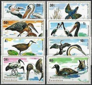 1975 Rwanda Water Birds, Uccelli, Oiseaux, Pelican complete set VFMNH! LOOK!