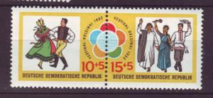 J19227 Jlstamps 1962 germany DDR set mnh #b91a pair