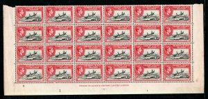 Gilbert and Ellice Islands 1939-55 1 1/2d MNH Imprint block of 24