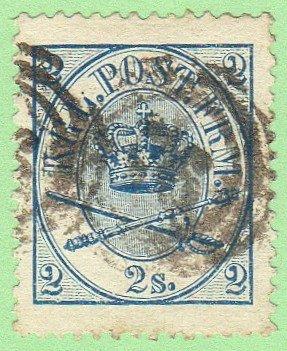 DEN SC #11 1865 Royal Emblems P13 CV $35.00