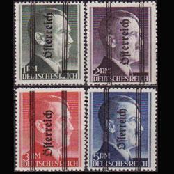 AUSTRIA 1945 - Scott# 424-7 Hitler Opt. Set of 4 LH