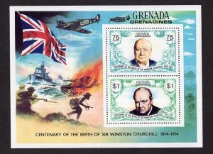 Grenada  Grenadines   #31  MNH 1974  sheet  Churchill
