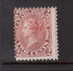 Canada #20iv Mint Imprint Copy **With Certificate**