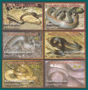 Papua New Guinea 2006 Snakes, MNH  #1229-1234,SG1140-SG1145