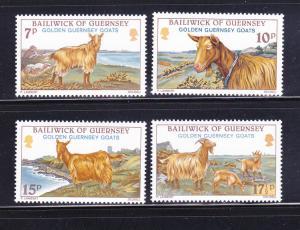 Guernsey MNH 209-12 Guernsey Golden Goats 1980