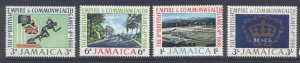 Jamaica 254-7 MNH Commonwealth Games, Sports, Flags