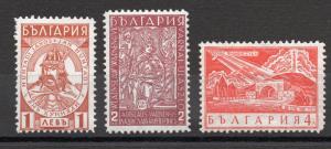 Bulgaria - Sc# 281 - 283 MH (crackled gum) /  Lot 0517193