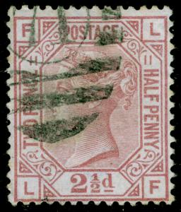SG141, 2½d rosy mauve PLATE 11, USED. Cat £80. LF