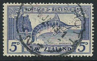 New Zealand SG 584c Used perf 14 x 13 1/2 cancel '43
