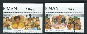 Isle of Man MUH SG 701 - 702  top right margin corner