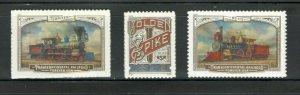 5378-80 Transcontinental Railroad Set of 3 Mint/nh FREE SHIPPING
