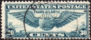 United States C24 - Used - 30c Winged Globe (1939) (cv $1.50)