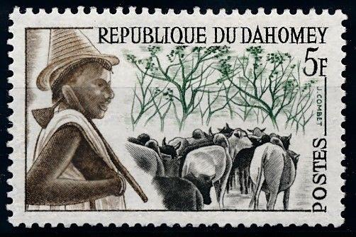 [66516] Benin Dahomey 1963 Flora Trees Cows From Set MNH