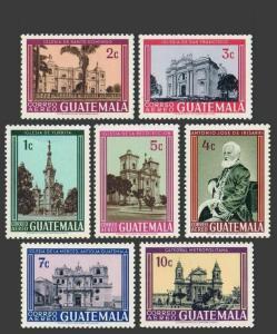 Guatemala C364-C370,MNH.Michel 790-796. Churches 1967.Santo Domingo,Yurita,Mercy