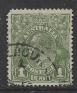 Australia - Scott 114 - KGV Head -1931 - Used - Wmk 228 - 1p Stamp