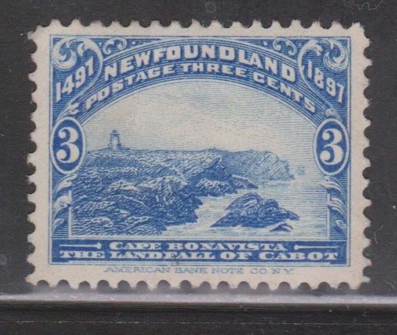NEWFOUNDLAND Scott # 63 - Mint NO GUM Cape Bonavista Issue