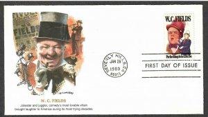 US # 1803 W.C. Fields Fleetwood FDC - I Combine S/H