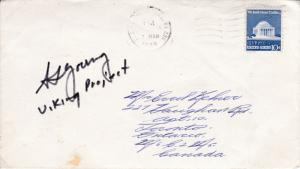 U.S. Space Cover NASA signed/note by Tom Young Project Viking