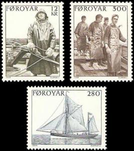 STAMP STATION PERTH Faroe Islands #112-114 Fa105-107 MNH CV$5.35