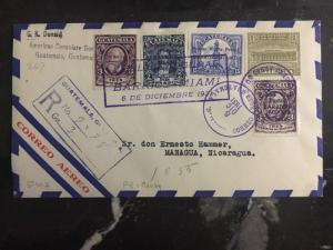 1931 US Consulate Guatemala first flight  cover FFC Miami USA To Nicaragua