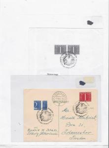 netherlands 1954 stamp cover Ref 9166