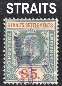 Malaya Straits Settlements Scott 127 wtmk 3 F to VF used.