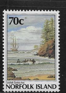 NORFOLK ISLAND, 431, MINT HINGED HINGE REMNANT, BICENTENNIAL TYPE OF 1986