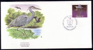 Canada FDC SC# 1096 Great Blue Heron L124