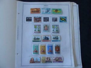 Jamaica 1970-1987 Stamp Collection on Album Pages