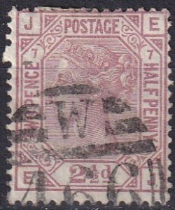 Great Britain #67 Plate 7   F-VF Used CV $60.00 (Z1335)
