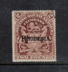 Rhodesia #100 (SG #113d) Very Fine Mint Original Gum Hinged **With Certificate**
