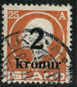 Iceland Attractive Sc#149 Used F-VF SCV $190...Key bargain!!
