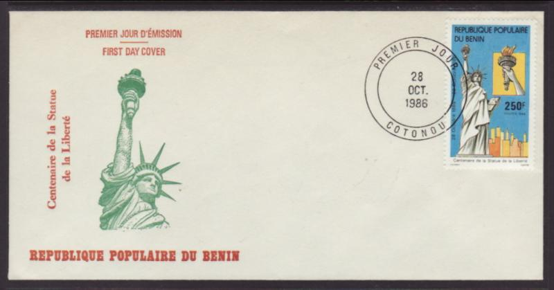 Benin 635 Statue of Liberty U/A FDC