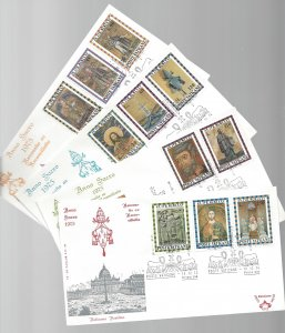 Vatican, 561-71, Holy Year 1975 Kim Cover First Day Covers (FDC),Used