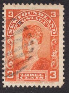 Newfoundland  #83  used   1897  Alexandra  3c orange