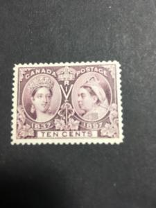 Canada USC #57 Mint O.G. VF Lightly Kissed By A Hinge 10c Jubilee Fresh&Centered