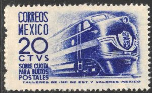 MEXICO Q8, 20¢ 1950 Definitive 1ST Printing wmk 279 UNUSED, H OG. VF.