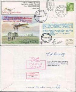 FF29b 1st Aeroplane Flight from London - Paris Signed by Beaver Captain (A)