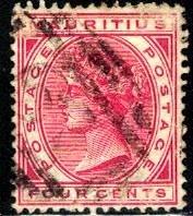 Queen Victoria, Mauritius stamp SC#72 used
