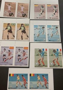 A) 1986, NICARAGUA, FOOTBALL WORLD CUP, MEXICO, MNH, AERIAL