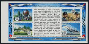 Lesotho 406a pane MNH Manned Flight, Concorde, Wright Brothers, Balloon