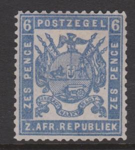 Transvaal 1874 Sc#32 SG#39 MNG Thin Paper Perf 12.5x12.5 Davis Print