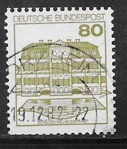 Germany 1312: 80pf Wilhelmsthal, used, VF