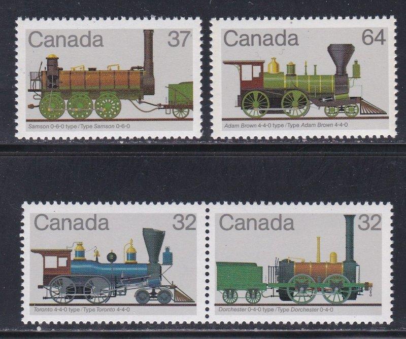 Canada # 999-1002, Locomotives, NH, 1/2 Cat.