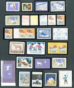 Scandinavia Stamp Label Collection lot of 27