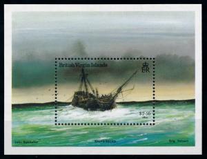 [78743] British Virgin Islands 1987 Shipwrecks Souvenir Sheet MNH