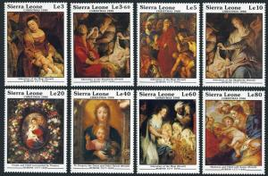 Sierra Leone 1013-1020,1021-1022,MNH. Christmas 1988.Painting by Peter Rubens.