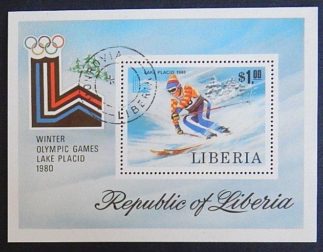 Sport, Winter Olympics, Africa, Liberia, 1980, №1094-T