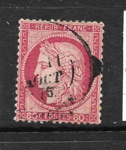 FRANCE 1871-76  80c   CERES    FU    SG 208