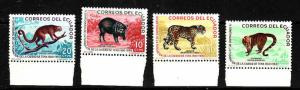 Ecuador-Sc#676-9-Unused NH set-Animals-1961-
